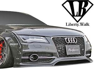 【M's】AUDI A7 S7 (2011y-2018y) Liberty Walk LB-WORKS フロントバンパー//アウディ FRP製 エアロ バンパー リバティーウォーク