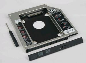 国内発送 送料安 Acer Aspire 4738Z 4750G 4752 4752G 4755G AS7739 5560G用 セカンドHDDアダプター SSDマウンタ SATA接続 12.7mm