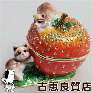 【新品】ジュエリーボックス 宝石箱 柿とアライグマ 341-1 小物