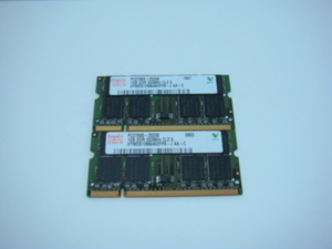 Note for hynix made memory /PC2700S/DDR/333mHZ/1GB(2 sheets total 2GB)/CL2.5