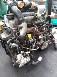 01591EP『 HE21S アルトラパン / スズキ純正ターボエンジン & オートマトランスミッション 』 K6A AT FF CPUハーネス 実動