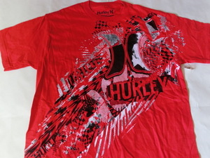 USA購入 人気サーフ系アメカジブランド【Hurley】 ハーレー レギュラーフィット 【REGULAR FIT】 ロゴプリントTシャツUS Sサイズ レッド