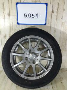 R054 タイヤホイール 1本 DILETTO 4H/PCD100 155/65R14 4.5J Offset +43 ラジアルタイヤ DUNLOP ENASAVE