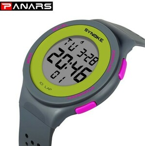SYNOKE ファッション デジタル スポーツ 腕時計 時計 防水 電子Led 男性 メンズ S194