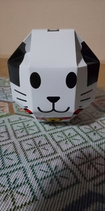 栃木県 日光江戸村のキャラクター ニャンまげチョコクランチ お菓子の箱のみ