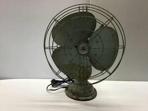 ●昭和レトロ● 三菱 鉄羽根 3枚羽根 扇風機 羽根径30cm MITSUBISHI アンティーク 古民家 古い
