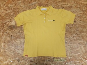 〈送料280円〉le coq sportif GOLF COLLECTION ルコック ゴルフ レディース ロゴ刺繍 ナイロン・ポリウレタン混 半袖ポロシャツ 黄色