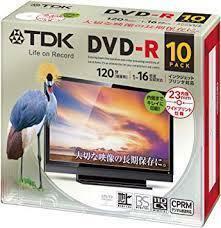 【送料無料】TDK 録画用DVD-R デジタル放送録画対応(CPRM) 1-16倍速 インクジェットプリンタ対応 10枚パック