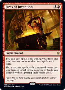 え赤 創案の火 1枚(4枚在庫s 英 良品 ELD)/Fires of Invention(MTG /エルドレインの王権/Throne of Eldraine/)