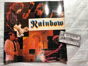 レインボー 1980年 日本公演 パンフとチケット半券