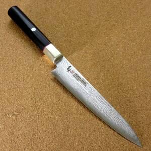 関の刃物 ペティナイフ 15cm (150mm) 三昧 ハイブリッド スプラッシュ ダマスカス33層 VG-10 ステンレス 黒合板 両刃果物包丁 国産日本製
