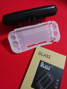 【新品】Nintendo Switch Lite専用★(黒&白)ケース+シリコン カバー+液晶保護 強化ガラスフィルム★任天堂 スイッチ ライト・即決