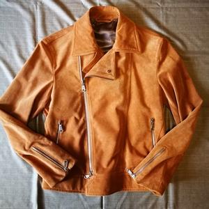 新品ブリオーニ レザーライダースジャケット サイズ48
