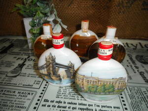 アンティークコレクション CLANTARTAN スコッチウイスキー 陶器絵柄 5本 ⑧ 長期保管品