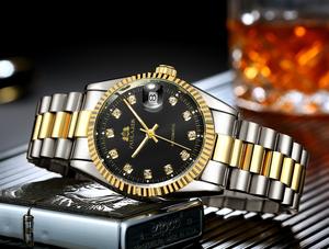 【日本未発売品】最落なし【PAULAREIS】 腕時計 Datejust Luxury Simple Gold Shilver 自動巻き 36mm ROLEXオマージュ レザー