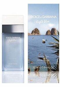 【Free Shipping】 Dolce & Gabbana Light Blue Love Inn Capriio Daware 25ml