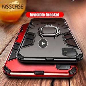 耐衝撃ケース iphone 6 6S 7 8 プラス X XS 最大 XR ケース iphone 11 プロ 11Pro 最大 5 5S 、 SE 指リングホルダーケース k949
