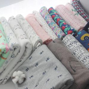 プリント漫画綿ニット生地半分メートル diy 縫製 uphostery ベビー衣料品の綿生地 50×160㎝ k-908