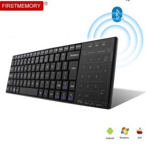 Bluetooth 3.0 ワイヤレスキーボード マルチメディアタッチパッド BT 3.0 キーパッド用充電式 Pc Windows Mac/iOS アンドロイド k919