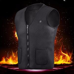 ロング 寿命電熱 USB ノースリーブベストオートイのジャケット アウトドア スポーツ ユニセックス サイクリングレースバック鎧 k1007