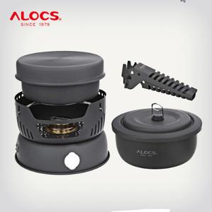 10 個セット アウトドアキャンプハイキングピクニック 調理セット器具ストーブアルコールバーナー 炊飯器ポットフロントガラスk-891