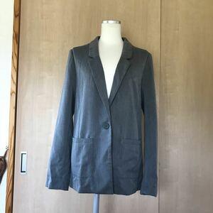 【H&M】レディース /テーラードジャケット/グレー/size:EUR40