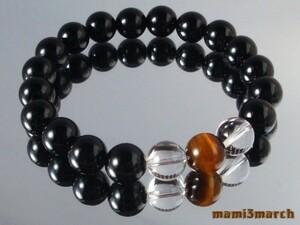 10mm ★ Onyx & Crystal & Tiger Eye Power Stone Bless Internal 18cm
