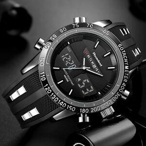 高級ブランド腕時計メンズ用スポーツ腕時計防水 LED デジタルクォーツメンズミリタリー腕時計時計メンズレロジオ Masculino