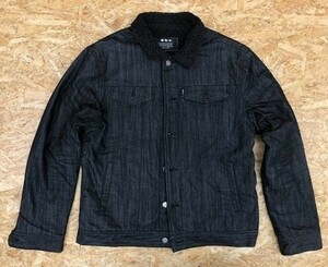 abx エービーエックス Lサイズ メンズ ジャケット ブルゾン ボア裏地 長袖 4ポケット 黒 ブラック