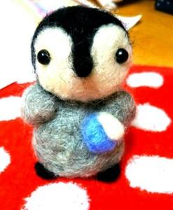ハンドメイド 皇帝ペンギンの赤ちゃん