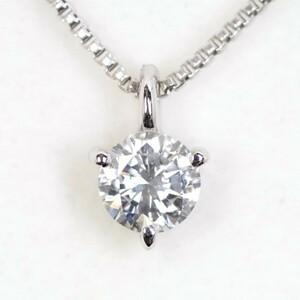 TASAKI 田崎真珠 ダイヤモンド0.223ct Fカラー VS2 GOOD K18WG ネックレス