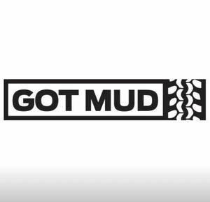 GOT MUD カッティングステッカー オフロード クロカン オフロードタイヤ 四駆 4WD 車 ピックアップトラック 色変更OK!