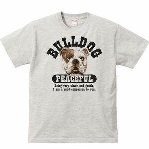 優しいブルドッグ/半袖Tシャツ/メンズM/杢・新品・メール便 送料無料