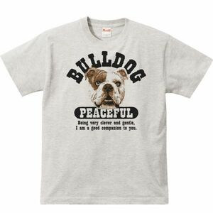 優しいブルドッグ/半袖Tシャツ/メンズS/杢・新品・メール便 送料無料