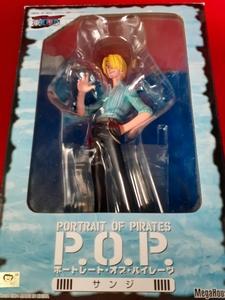 【タバコパーツ欠品】ワンピース POP サンジ Portrait.Of.Pirates フィギュア メガハウス【開封品】青