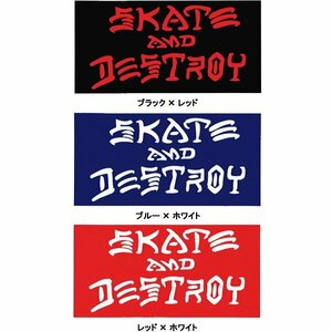 NEW ■ THRASHER MAGAZINE スラッシャーマガジン スケートアンドデストロイ ステッカー ブルー×ホワイト/SK48 スケート スケボー