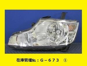 (3) RK1 RK2 ステップワゴン 前期 左ヘッドライトASSY KOITO 100-22012 純正 33150-SZW-003 ハロゲン (G-673)