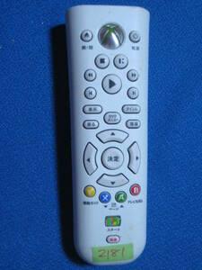 2181★純正Microsoft マイクロソフト Xbox 360用 DVDメディアリモコン X805868-002★赤外線発光確認済!保証