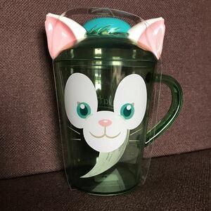 香港ディズニーランド ジェラトーニ コップ プラスチックカップ 海外 マグカップ タンブラー 蓋つき