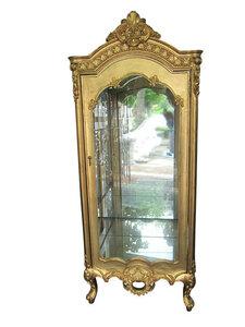ゴールド キャビネット 飾り棚 ロココ調装飾 ディスプレイ H197cm 未使用