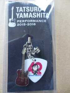unused unopened Yamashita Tatsuro PERFORMANCE 2015-2016 Tour pick type strap for mobile phone