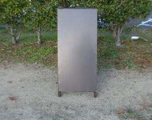 格安・茶色無地・トタン・A型スタンド看板・スリム(全長1m・書込可・屋外可)