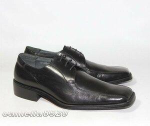 Andrew Brown アンドリュー ブラウン スワールトゥ ビジネスシューズ 黒 ブラック レザー 本革 40 サイズ 約25cm 未使用 展示品