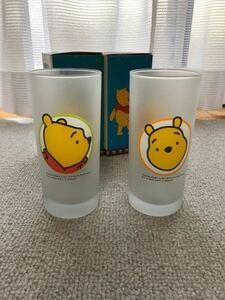 【未使用品】ディズニー●プーさん●ガラスコップ●タンブラー●グラス●2個セット●