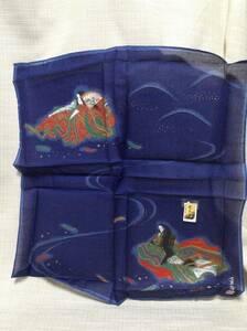 ハンカチ 紫式部 日本製 綿100% 勇斉 約22×25cm