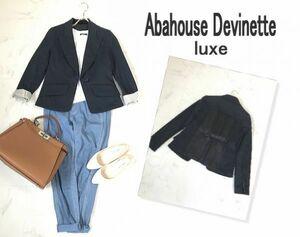 ★c212☆アバハウスドゥビネット リュクス Abahouse Devinette luxe ネイビー テーラード ジャケット 紺ブレ ブレザー 紺 レディース
