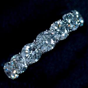 E8904 美しい天然大粒ダイヤモンド2.285ct 最高級Pt900無垢リング サイズ12号 重量5.06g 縦幅4.4mm