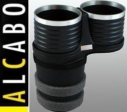 【M's】レクサス GS/GS-F(2012y-) LC(2017y-) ALCABO ドリンクホルダー (ブラック+リング)//アルカボ カップホルダー 高級 AL-T110BS