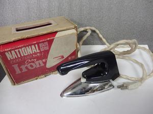 1190017s【ナショナル アイロン「キューティ」NI-111】昭和レトロ/Iron Cutey/松下電器産業株式会社/中古品*通電OK