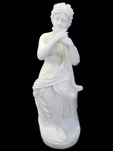 天然大理石彫刻 石像 やすらぎのビーナス 高さ約102cm 店舗展示品 置物 オブジェ 女性像 ヴィーナス像